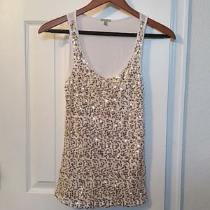 Charlotte Russell sequins tank top